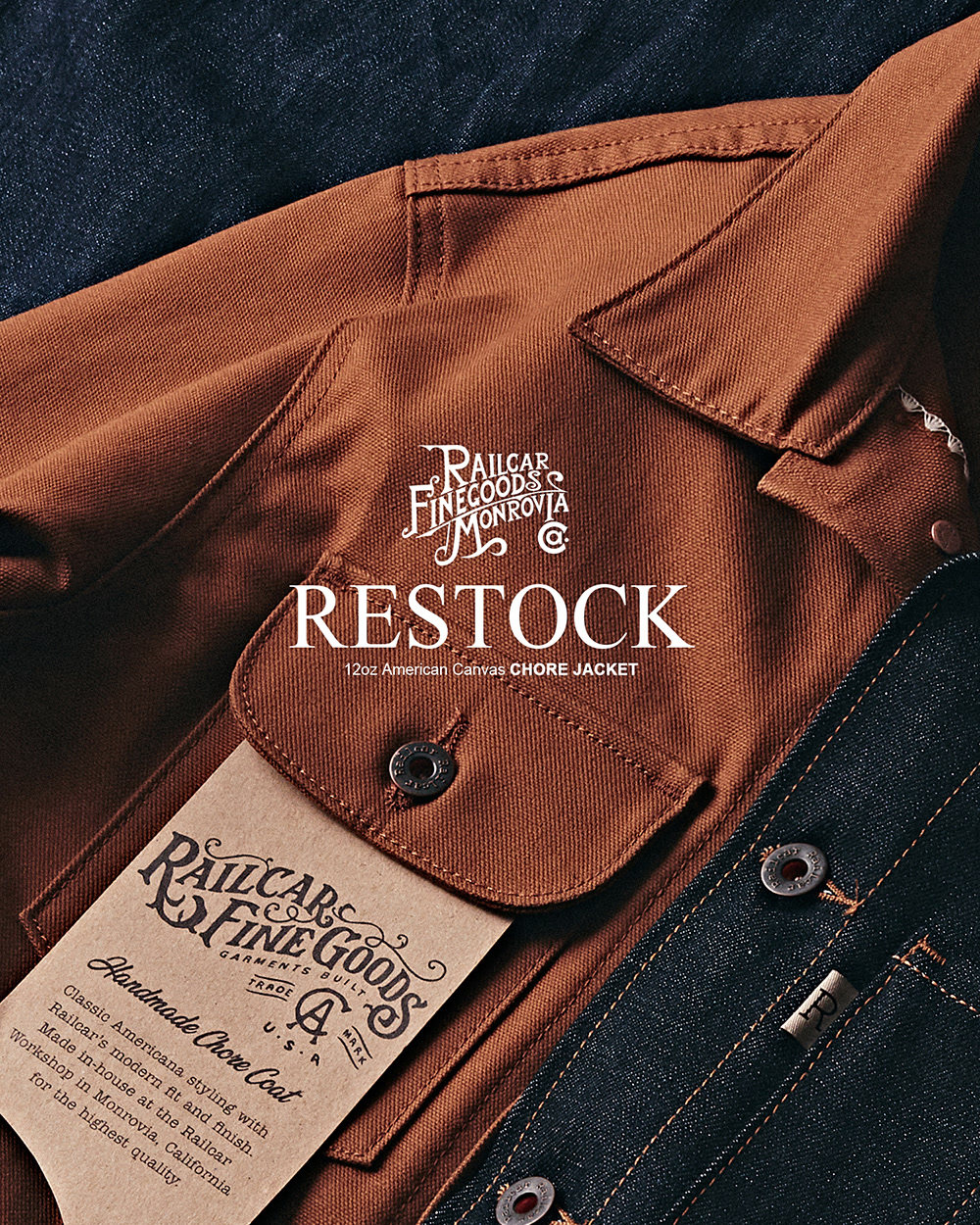 [RAILCAR FINE GOODS] Canvas Chore Jacket Restock