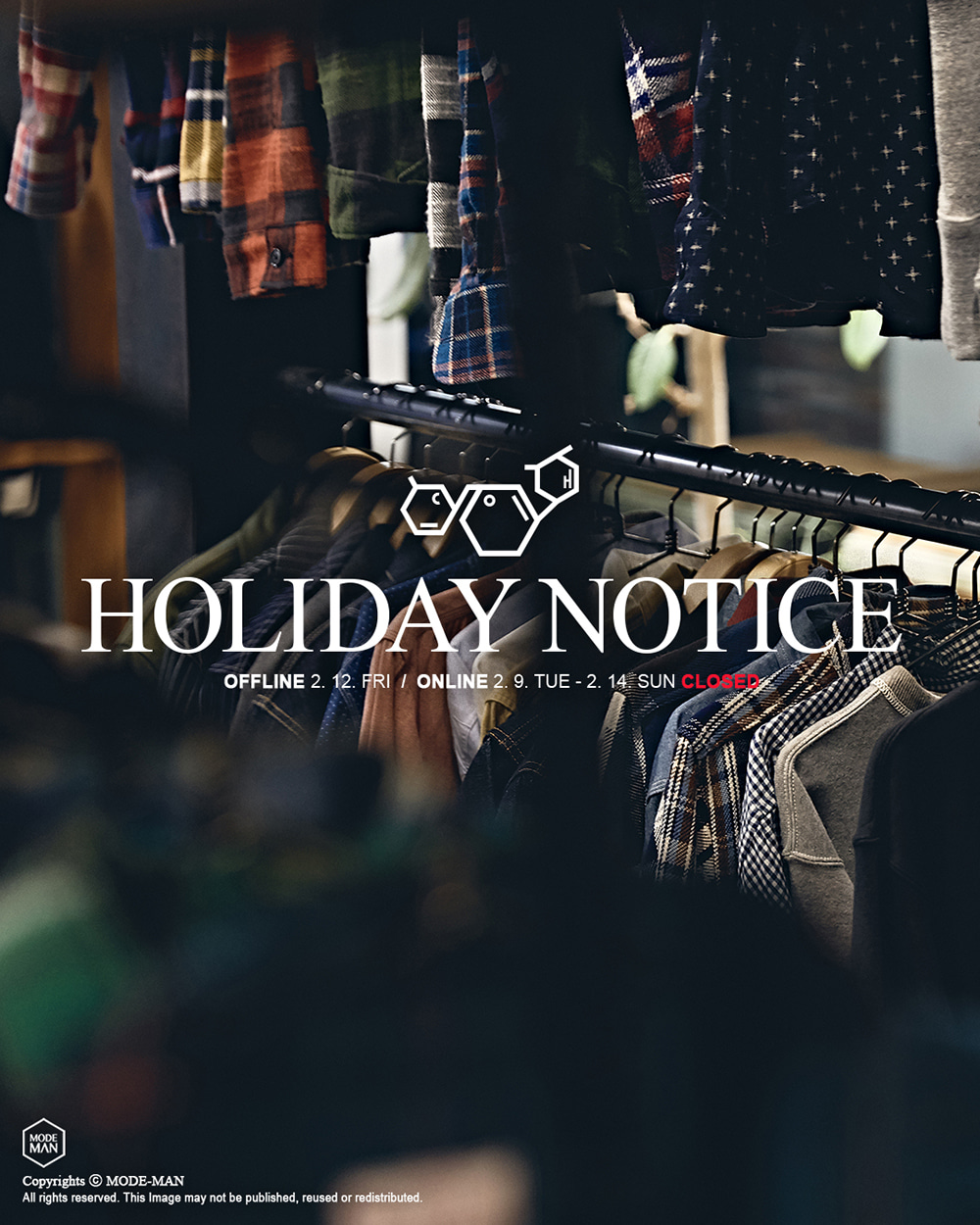[MODE-MAN] Holiday Notice