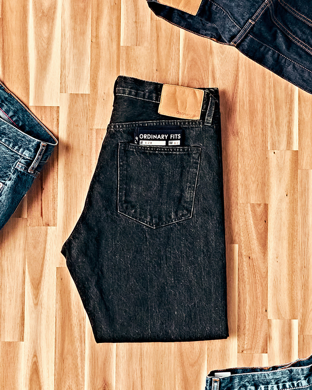 [ORDINARY FITS] Ankle Denim OM-P020 Black Used