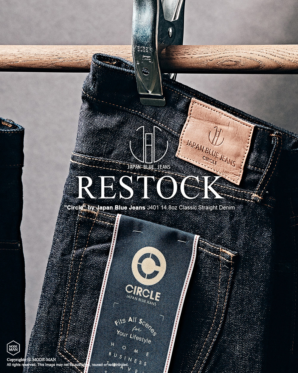 [JAPAN BLUE] Circle Line Denim Restock
